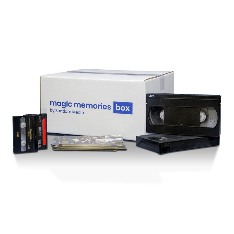 Easily transfer home videos to digital with Magic Memories Box.